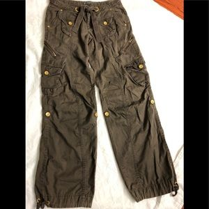 Armani Exchange Brown Cargo Pants